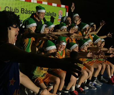 Un moment de la celebració de l'acte de presentació dels equips del CB Calella