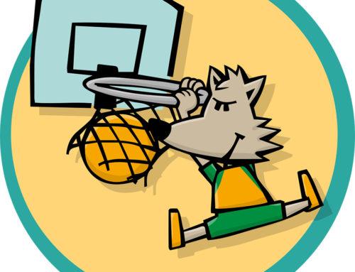 """""""Wolfy"""", la mascota del CB Calella, torna… i amb una cara renovada!"""