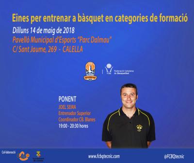"""Clínic de formació al pavelló """"Parc Dalmau"""" el 14 de maig. Imatge: Federació Catalana de Bàsquet"""