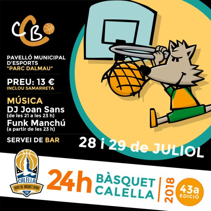 Cartell de les 24 hores del Club Bàsquet Calella