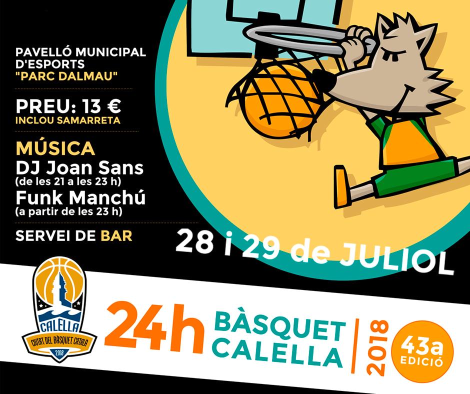 El cartell de la 43a edició de les 24 hores del CB Calella