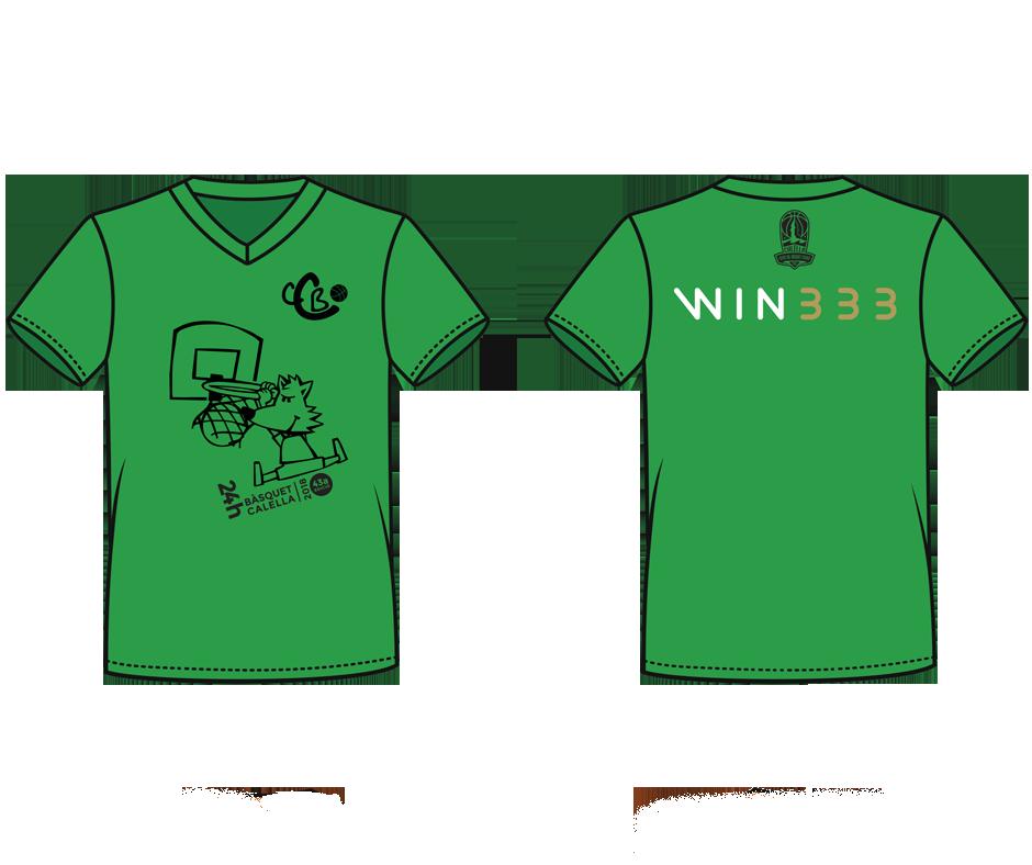 La samarreta verda de les 24 hores del Club Bàsquet Calella
