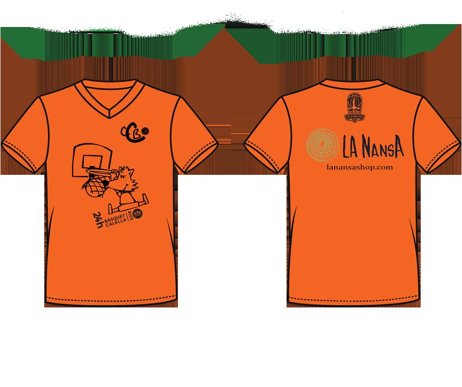 La samarreta taronja de les 24 hores del Club Bàsquet Calella