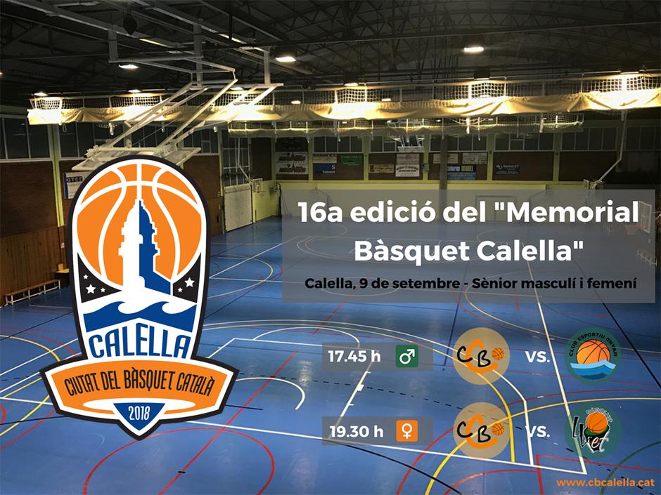 """16a edició del """"Memorial Bàsquet Calella"""""""