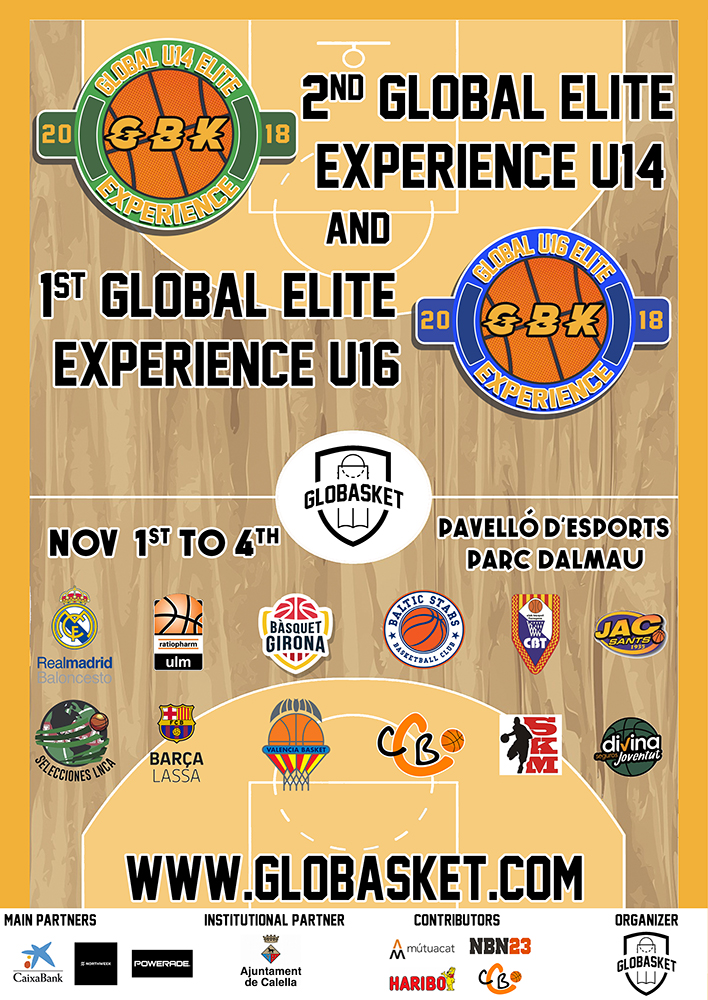 """Cartell del """"Global Elite Experience"""" a Calella"""