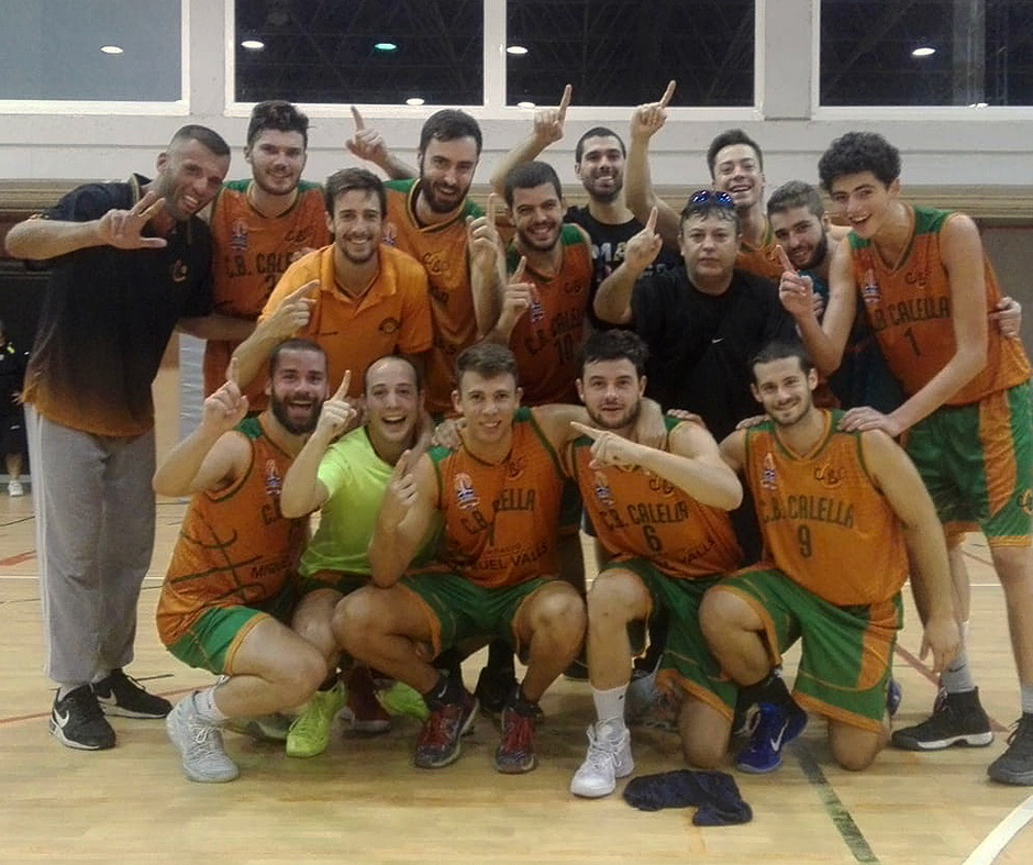 L'alegria del sènior FMV, després de la primera victòria a Segona Catalana