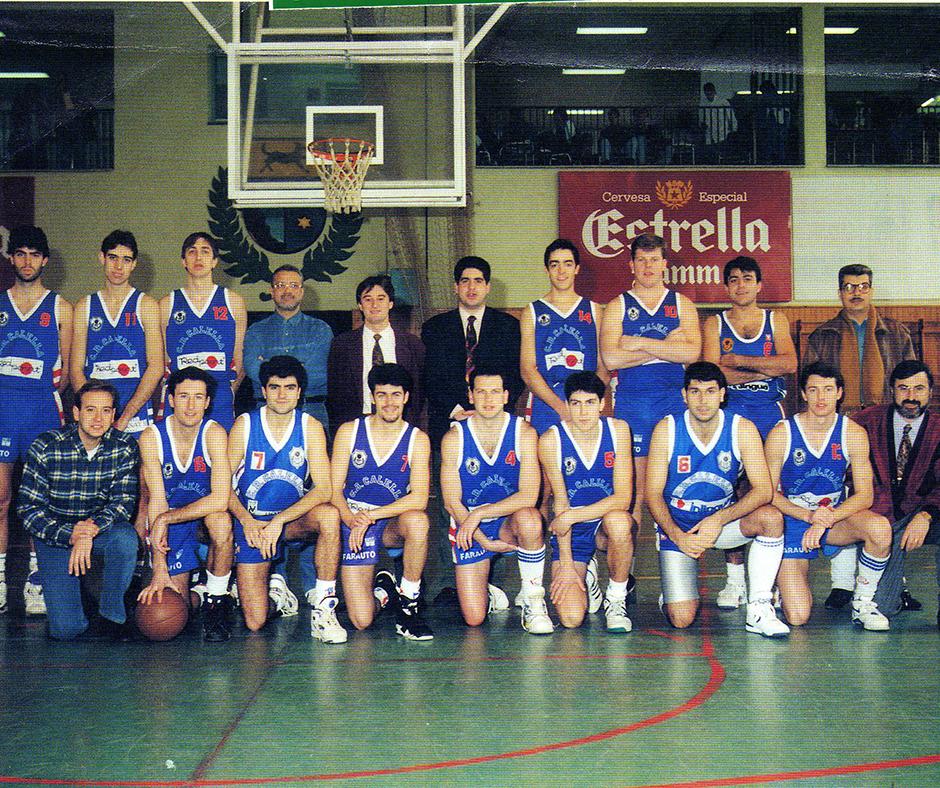 Ajupits, amb el número 4 en Vadó Pedemonte, amb el 6 en Miquel Mas i amb el 13 l'Artur Farreras