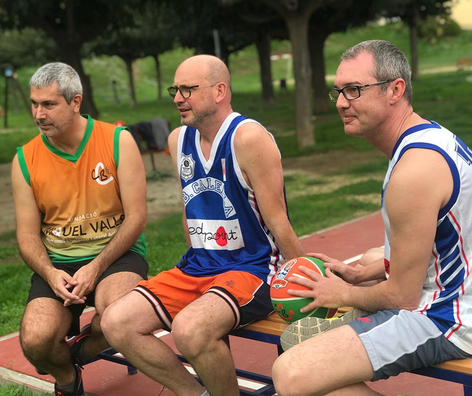"""Els """"joves carrosses"""". D'esquerra a dreta: Miquel Mas, Vadó Pedemonte i Artur Farreras"""