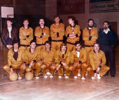 La plantilla del CB Calella que va guanyar la lliga de Segona Divisió [Foto del 1978-79]