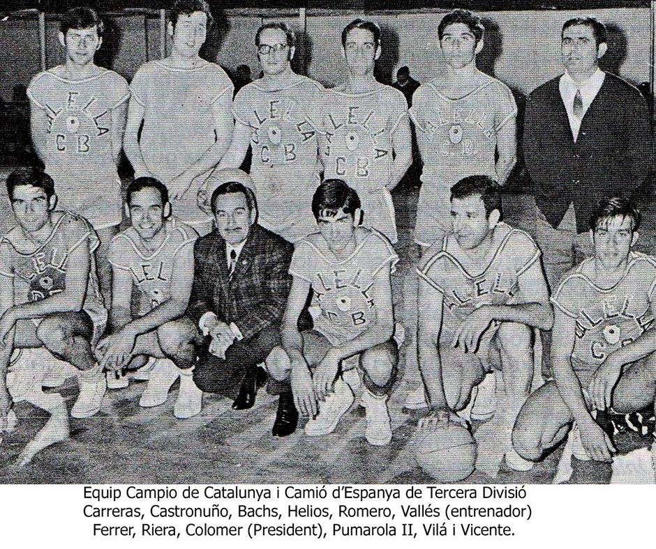 L'equip del CB Calella, campió d'Espanya de Tercera Divisió