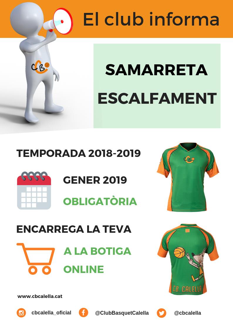 """""""El club informa"""". Les samarretes d'escalfament"""