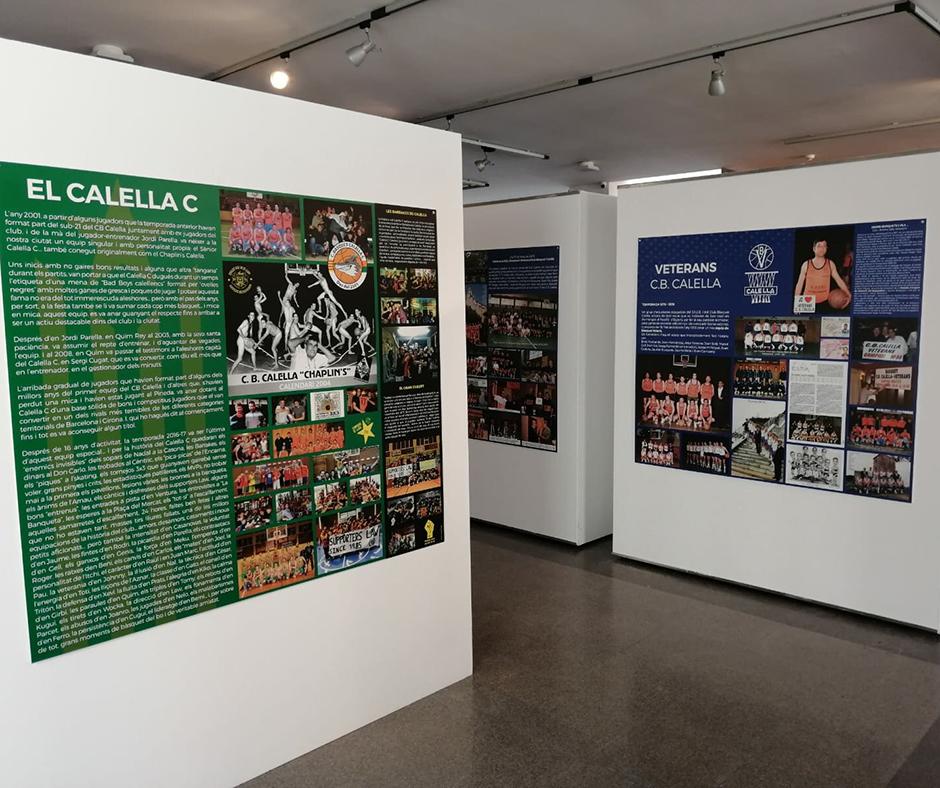"""CB Calella - El Calella """"C"""" i els veterans del Club Bàsquet Calella, també presents a l'exposició. Foto: Joanitu Claramunt"""
