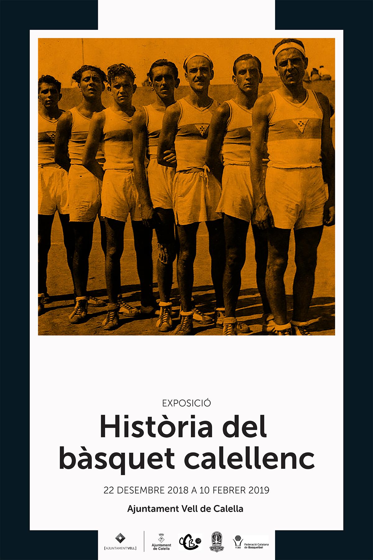 """El cartell de l'exposició """"Història del bàsquet calellenc"""". Font: Ajuntament de Calella"""