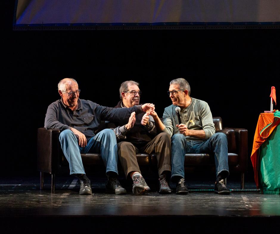 """""""Vaques sagrades"""". En """"Castro"""", en Joan Vicente i en Lluís Ferrer. Foto: Joan Maria Arenaza"""
