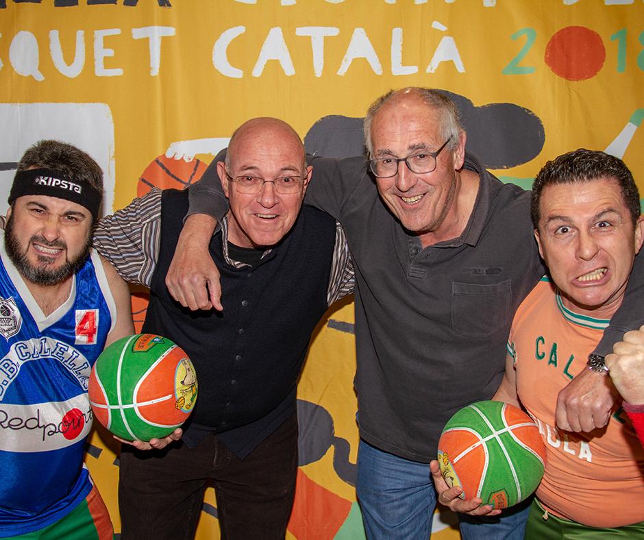 """D'esquerra a dreta: Albert Perarnau, Joanitu Claramunt, """"Castro"""" i Francesc Membrives. Foto: Carol Pretel"""