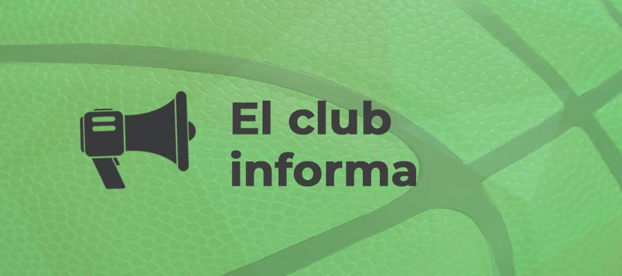 El club informa