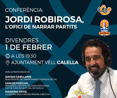 """CB Calella - Jordi Robirosa """"L'ofici de narrar partits"""". Disseny: Albert Claramunt"""