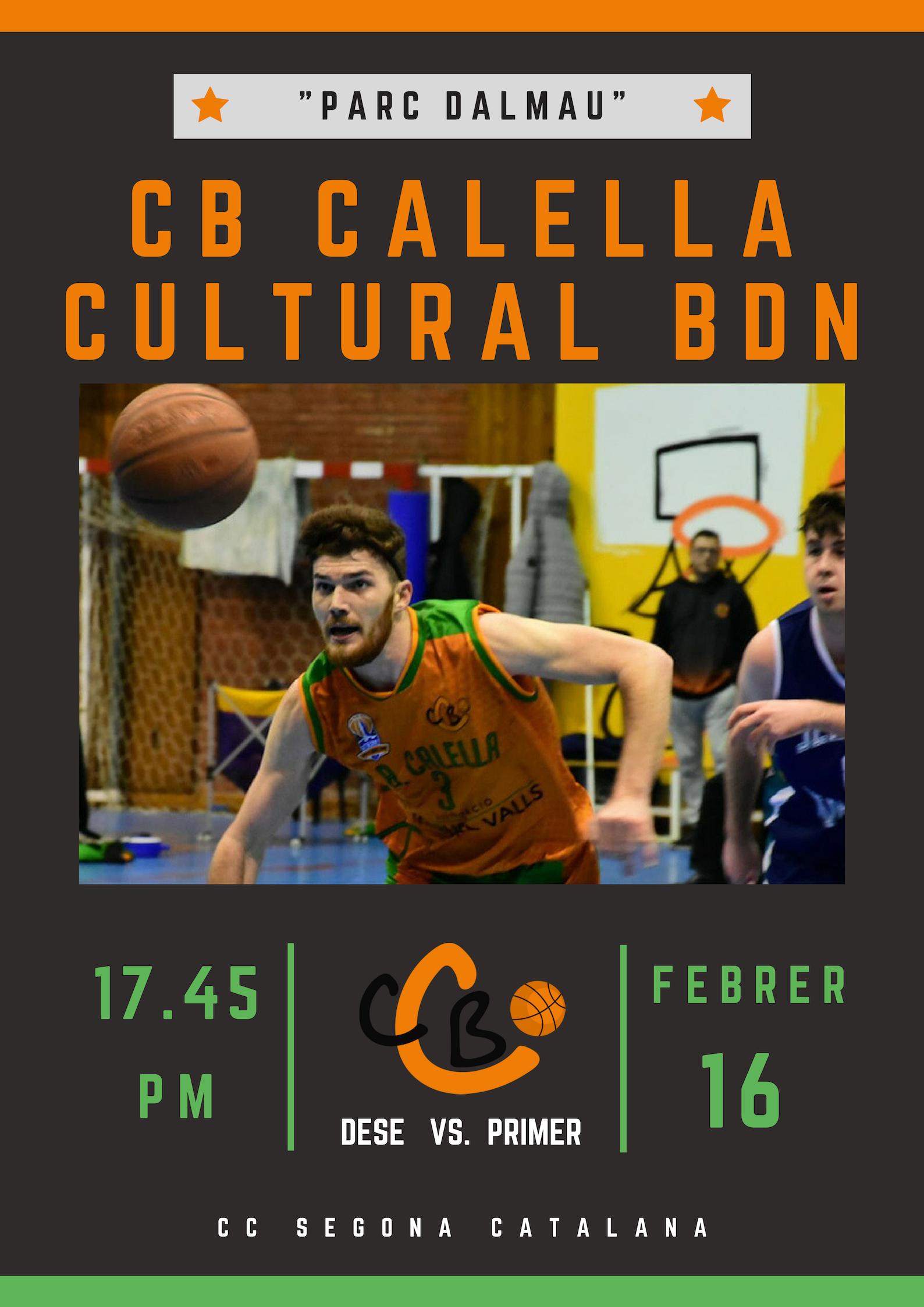 CB Calella - Sènior FMV vs. Cultural Badalona. 16 de febrer