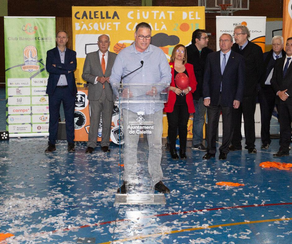 CB Calella - David Fors, el president del CB Calella, al discurs de traspàs