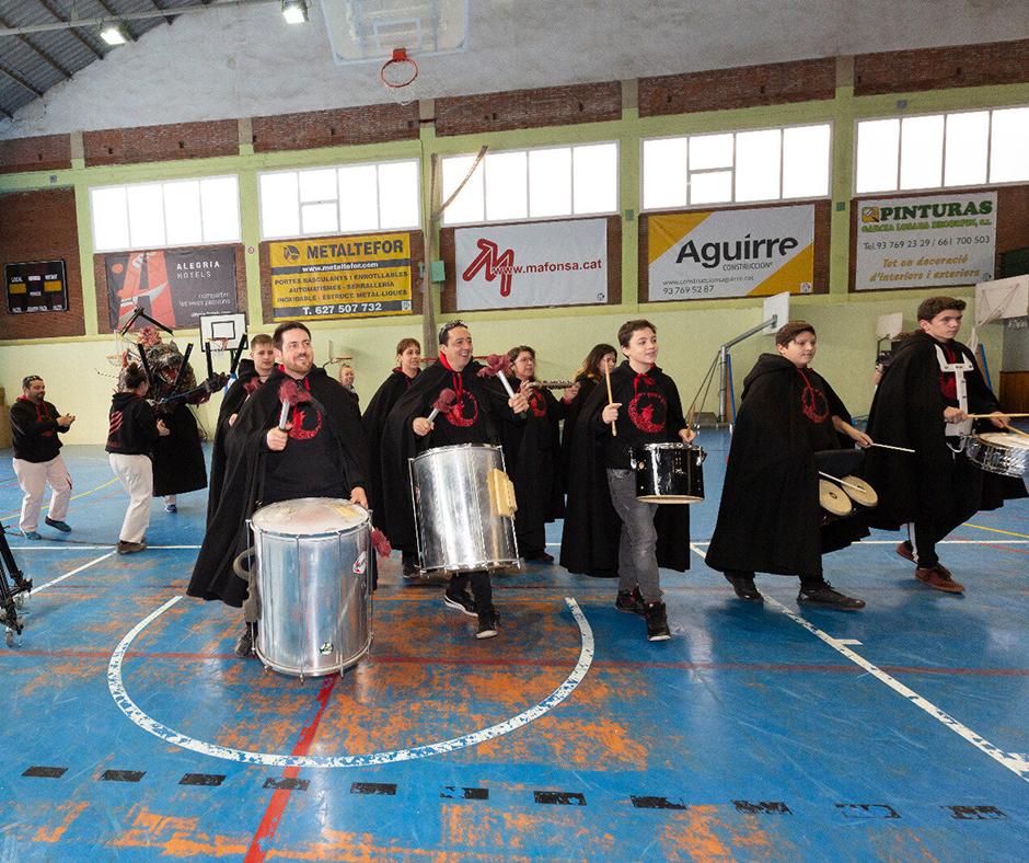 CB Calella - Els Udols de foc han posat el ritme a la festa. Foto: Joan Maria Arenaza