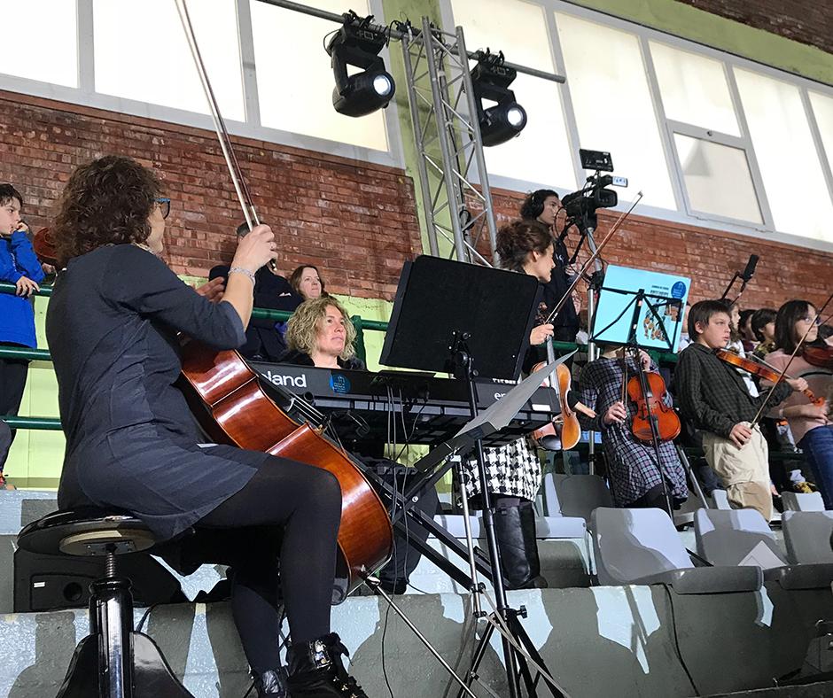 CB Calella - L'Escola de Música Can Llobet en un moment de la seva brillant actuació