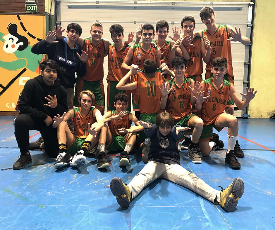 CB Calella - El cadet B celebra la desena victòria consecutiva