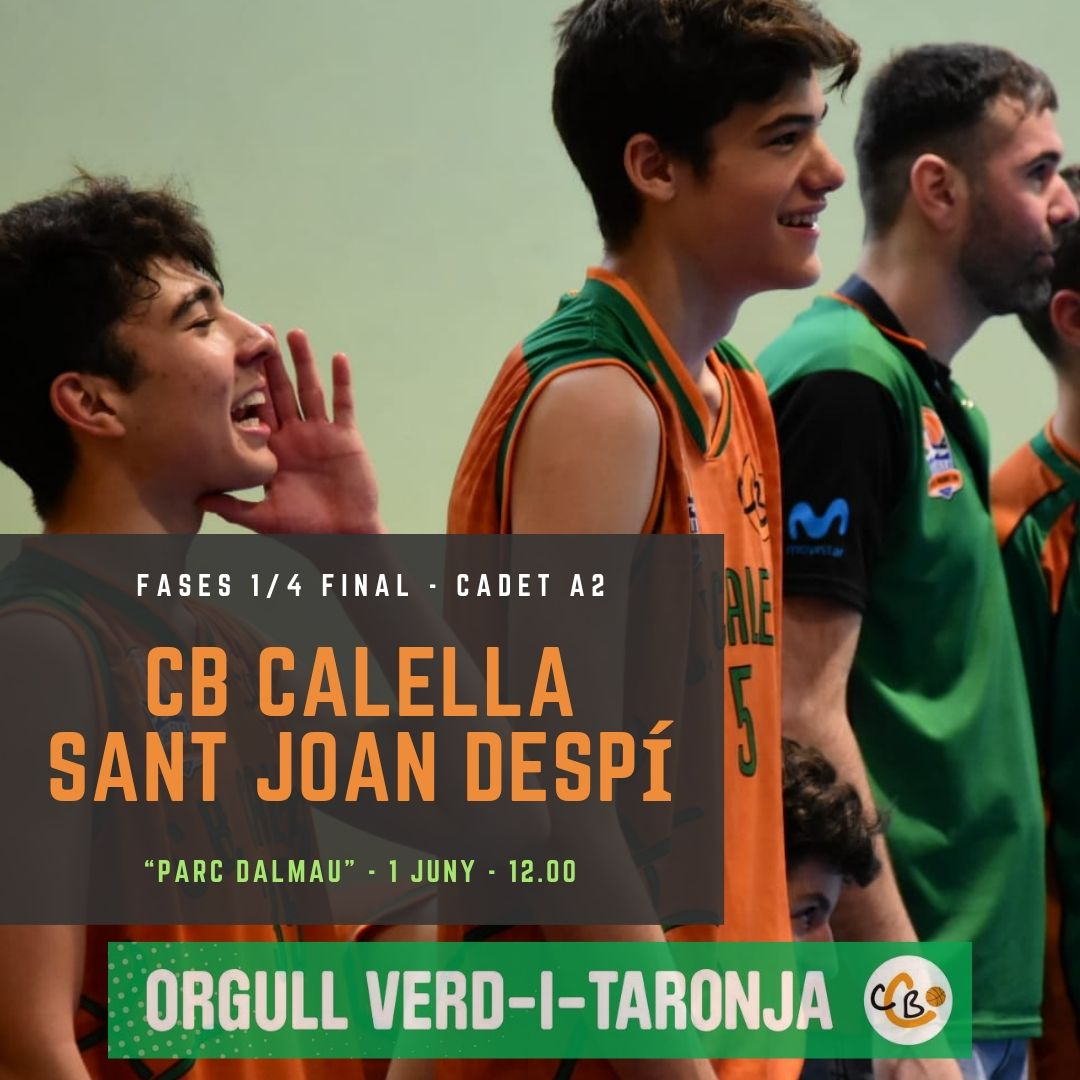 CB Calella - El cadet B vol classificar-se per a la final a 4 de Navarcles