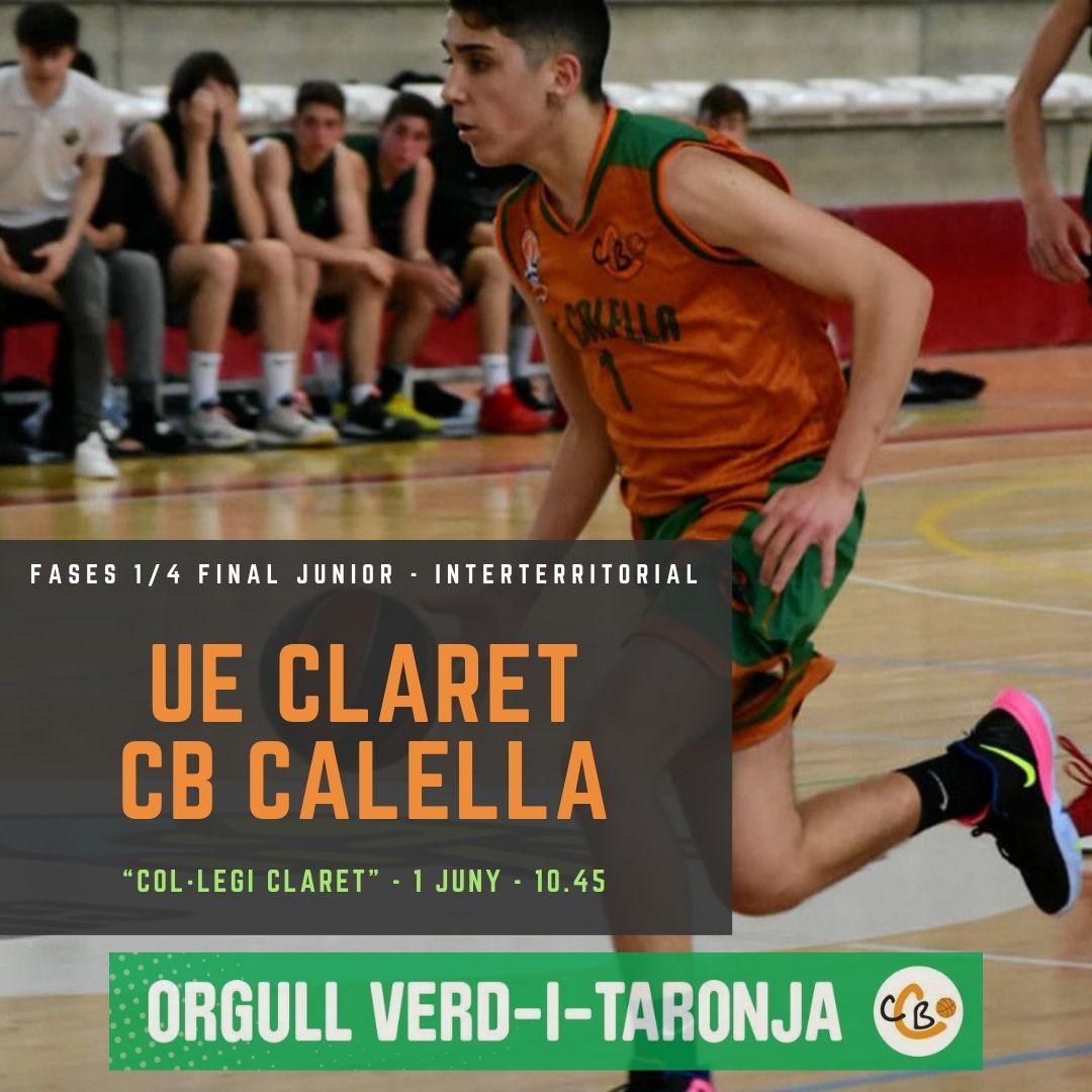 CB Calella - El júnior A masculí juga els quarts de final de fases a Interterritorial