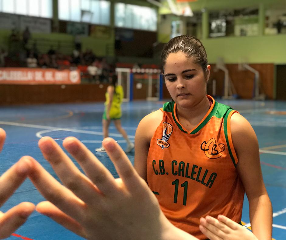 CB Calella - Cristina Acosta, give me five!