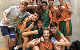 CB Calella - El cadet celebra la victòria en l'estrena a Interterritorial