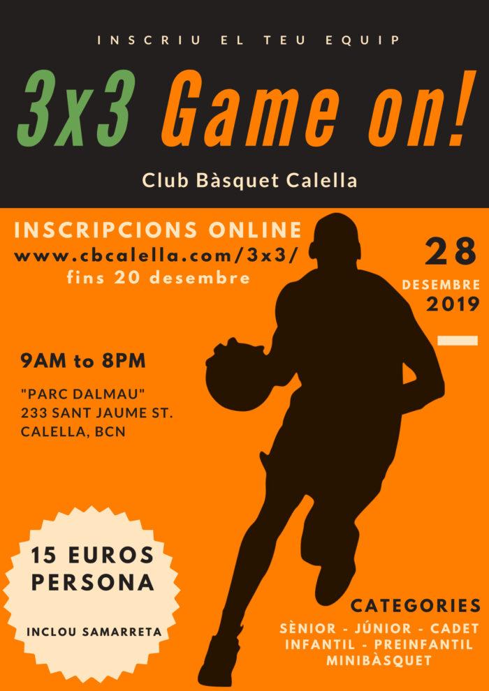 CB Calella - El cartell del 3x3 nadalenc del CB Calella
