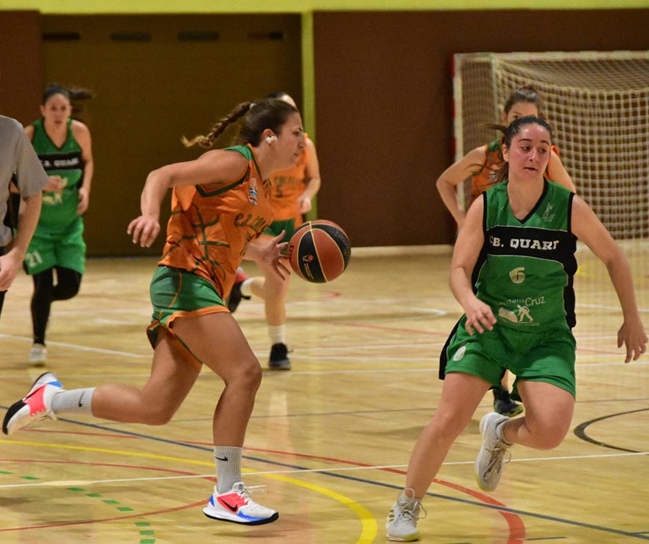CB Calella - L'Anna Duran condueix l'atac de l'equip. Foto: Esther Pujol