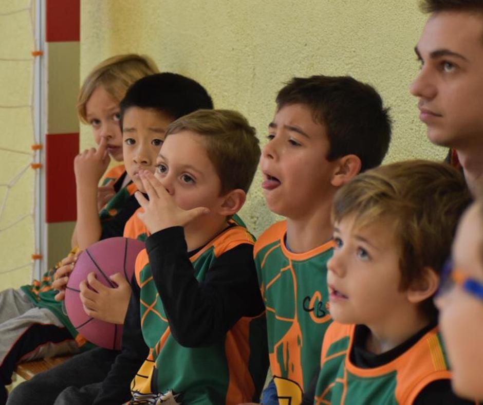 CB Calella - Integrants de l'escoleta del Club Bàsquet Calella