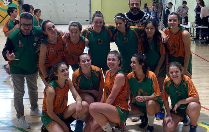 CB Calella - El júnior celebra la còmode victòria contra el Gramenet BC
