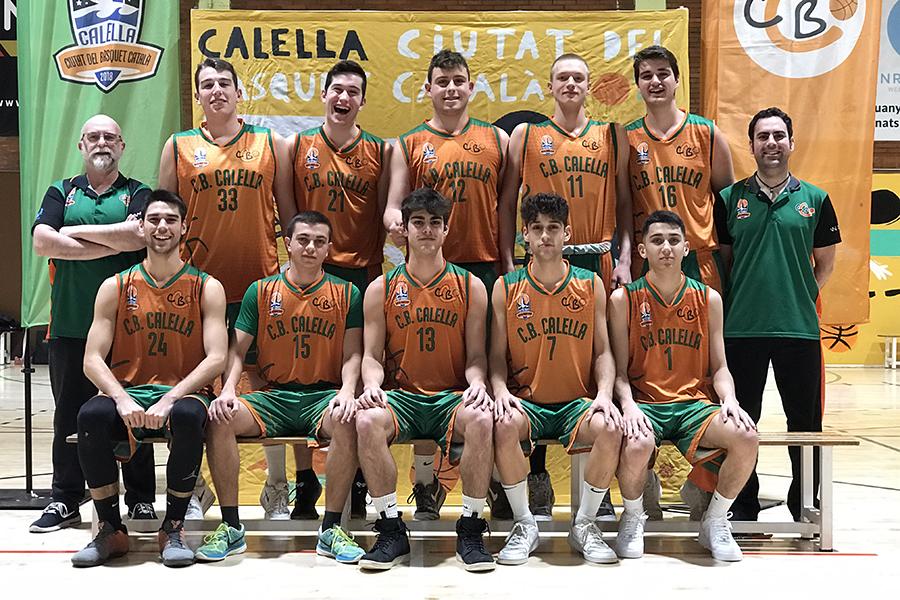 CB Calella - Sots 21 masculí. Temporada 2019-2020