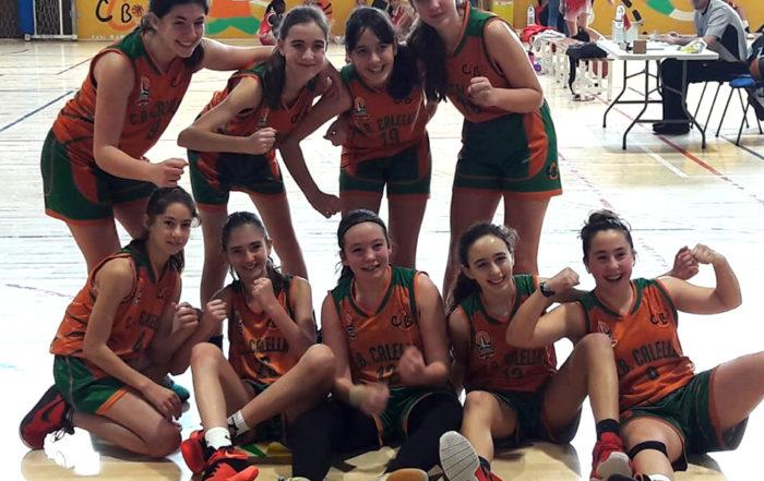 CB Calella - Gran victòria de l'infantil contra l'UER Pineda, un triomf que val per tres!