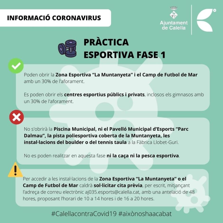 CB Calella - Pràctica eseportiva a Calella durant la fase 1. Foto: Ajuntament de Calella