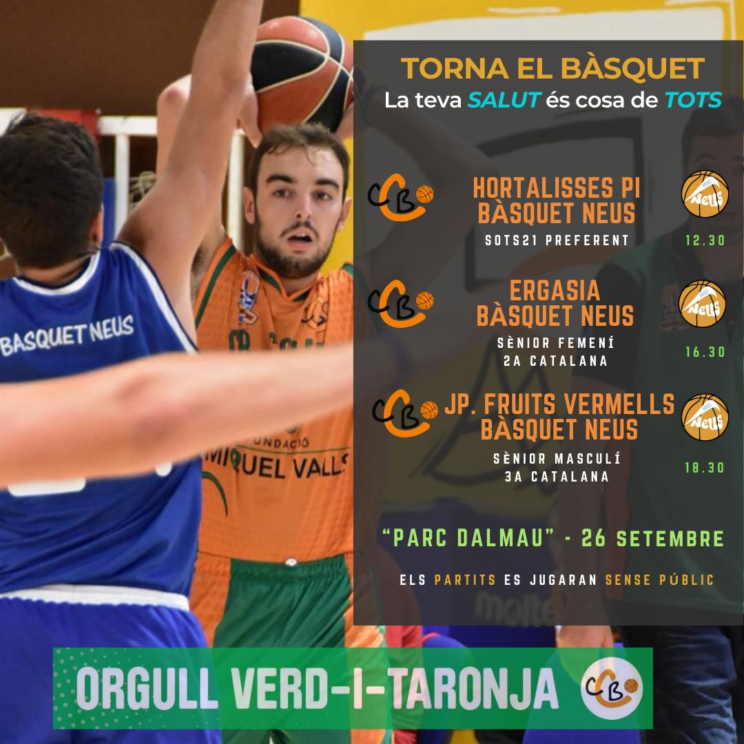 """CB Calella - El bàsquet torna al """"Parc Dalmau"""" després de la Covid-19 - Font: CB Calella"""