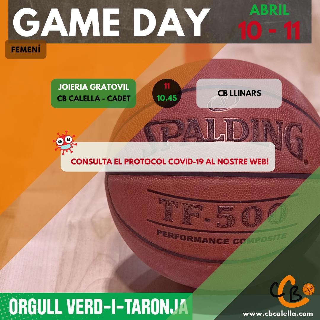 CB Calella - Partits 10-11 d'abril