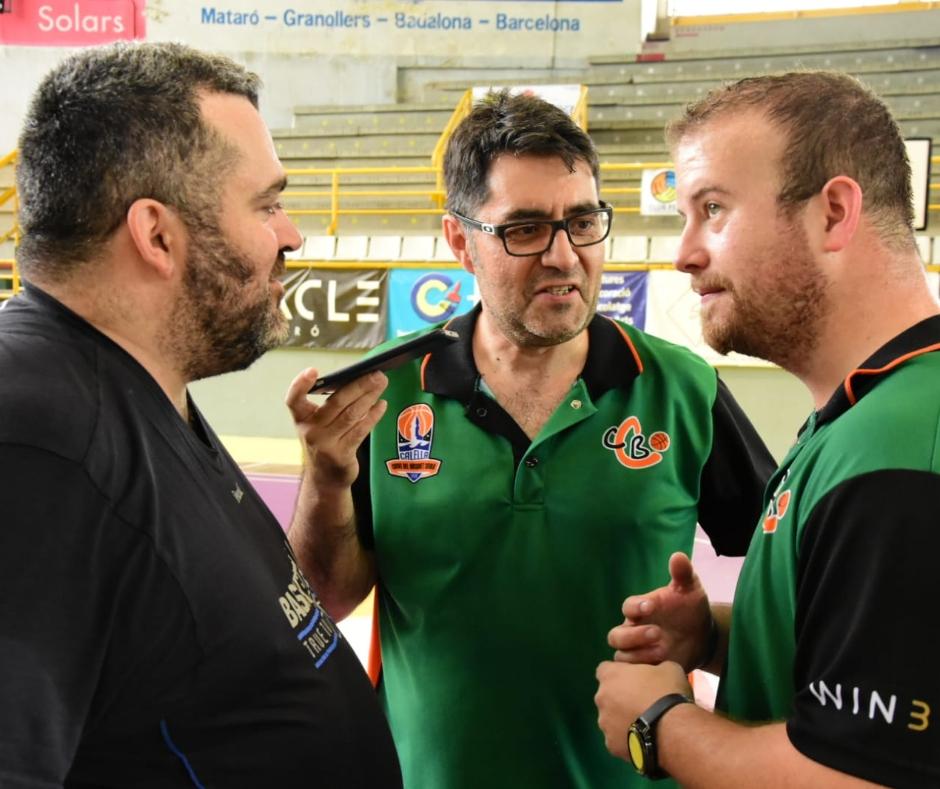 CB Calella - Jordi Fiérrez i Àlex Moral atenent els mitjans de comunicació! Campiones de Catalunya!