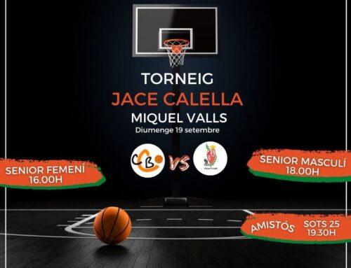 Diumenge 19, Torneig Memorial JACE Miquel Valls, preparat!!